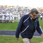 CBS News: In this Oct. 22, 2011 file photo, Penn State football coach Joe Paterno walks off the field after warm ups before Penn State's NCAA college football game against Northwestern, in Evanston, Ill. Paterno has decided to retire at the end of the season. (AP Photo/Jim Prisching, File)